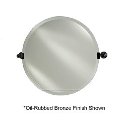 "Radiance Tilt Traditional 18"" Round Mirror - Satin Nickel"
