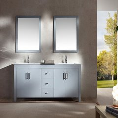 "60"" Hanson Double Sink Bathroom Vanity - Gray"