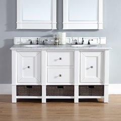 "60"" Madison Double Vanity w/ Carrara White Top-Cott White"