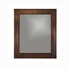 "36""x31"" Rectangle Wall Mount Copper Mirror-Oil Rubbed Bronze"