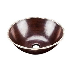 "15"" x 15"" Roma Above Counter Bathroom Sink - Copper"
