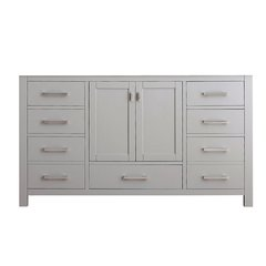 "60"" Modero Single Cabinet Only w/o Top - Chilled Gray"