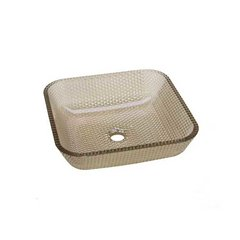 "15-3/4"" x 15-3/4"" Cubix Vessel Bathroom Sink - Fawn"