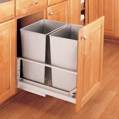 Double Trash Pullout 32 Quart-Stainless Steel