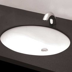 "19"" x 16"" Undermount Bathroom Sink - Cotton White"