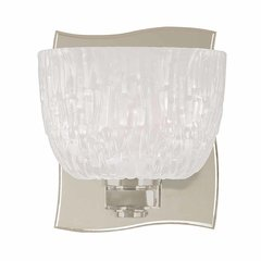 Cove Neck 1 Light Bathroom Sconce - Satin Nickel