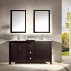 "60"" Hanson Double Sink Bathroom Vanity - Espresso"