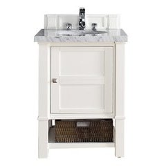 "26"" Madison Single Sink Vanity w/ Granite Top - Cottage White"