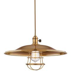 Heirloom 1 Light Pendant - Aged Brass <small>(#8002-AGB-ML2-WG)</small>