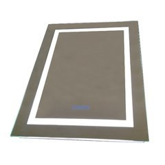 24 Inch Mirror with Energy Efficent LED Framing and Bluetooth Speakers