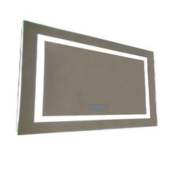 48 Inch Mirror with an Energy Efficent LED Framing and Bluetooth Speakers
