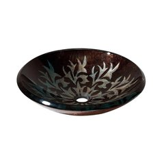 "18"" Diameter Round Vessel Bathroom Sink - Autumn Leaf"