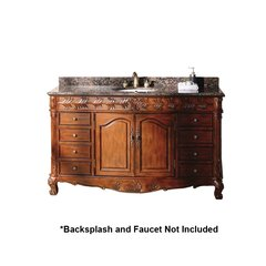"60"" St. James Single Sink Bathroom Vanity - Cherry"