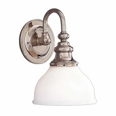 Sutton 1 Light Bathroom Sconce - Polished Nickel