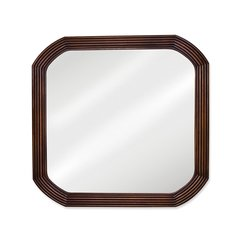 "26"" x 26"" Wall Mount Mirror - Walnut"