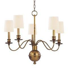 Cohasset 5 Light Chandelier - Aged Brass