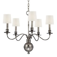 Cohasset 5 Light Chandelier - Aged Silver
