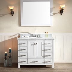 "43"" Cambridge Single Sink Bathroom Vanity - White"