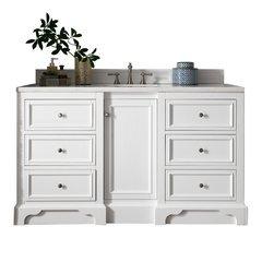 "61.25"" De Soto Single Sink Vanity w/ Marble Top - Bright White"