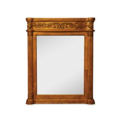"33-11/16"" x 42"" Wall Mount Mirror - Golden Pecan"