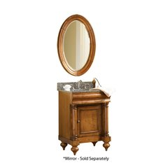 "24"" Guild Hall Single Vanity w/ Gold Top - Distressed Pecan"