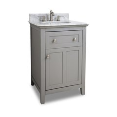 "24"" Chatham Shaker Single Sink Bathroom Vanity - Gray"