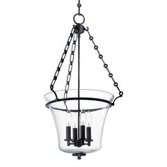 Eaton 4 Light Pendant - Polished Nickel