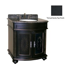 "36"" Arlington Single Sink Vanity w/ Black Top - Ebony"