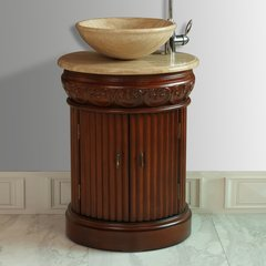 "23"" Edwina Single Vanity - Cherry/Travertine Top"