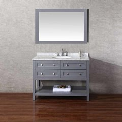 "48"" Marla Single Vanity - Gray/Carrara White Top"