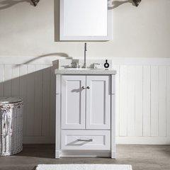 """25"""" Adams Single Sink Bathroom Vanity - White"""