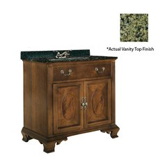 "36"" Dorchester Single Sink Vanity w/ Green Top- Brown Cherry"