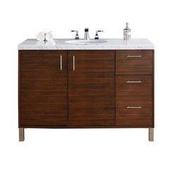 "48"" Metropolitan Single Sink Vanity w/ Quartz Top - American Walnut"