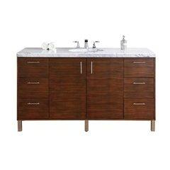 "60"" Metropolitan Single Sink Vanity w/ Granite Top - Macassar Ebony"