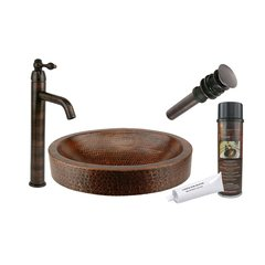 "17"" x 13"" Oval Vessel Sink Package - Oil Rubbed Bronze"
