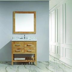 """36"""" London Single Sink Bathroom Vanity - Honey Oak"""