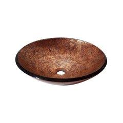 "18"" Diameter Round Vessel Bathroom Sink - Metallic Copper"