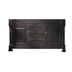 """60"""" Brookfield Double Cabinet Only w/o Top - Antique Black"""
