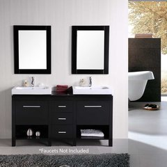 "60"" New York Double Vessel Sink Bathroom Vanity - Espresso"