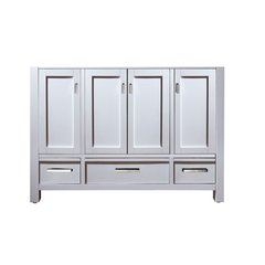 "48"" Modero Cabinet Only w/o Top - White"