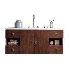 "48"" Sonoma Single Sink Vanity w/ Granite Top - Coffee Oak"