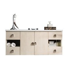 "48"" Sonoma Single Sink Vanity w/ Granite Top - Vanilla Oak"