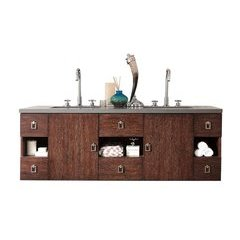 "60"" Sonoma Double Sink Vanity w/ Granite Top - Coffee Oak"