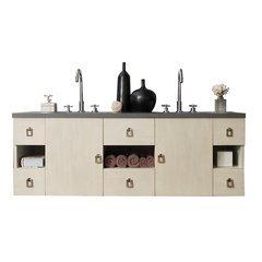 "60"" Sonoma Double Sink Vanity w/ Granite Top - Vanilla Oak"