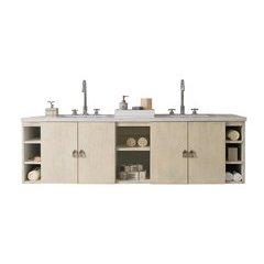 "72"" Sonoma Double Sink Vanity w/ Granite Top - Vanilla Oak"