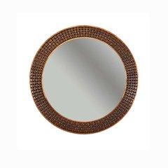 """34""""Dia. Round Copper Wall Mount Mirror - Oil Rubbed Bronze"""