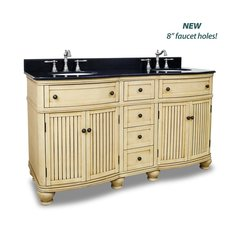 "60"" Compton Double Sink Vanity - Buttercream"