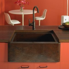 "25"" x 19"" Farmhouse Kitchen Sink - Antique Copper <small>(#CPK270)</small>"