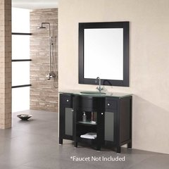 "43"" Rome Single Sink Bathroom Vanity - Espresso"