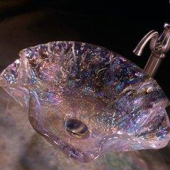 """20"""" Diameter Vessel Bathroom Sink - Crystal Reflections"""